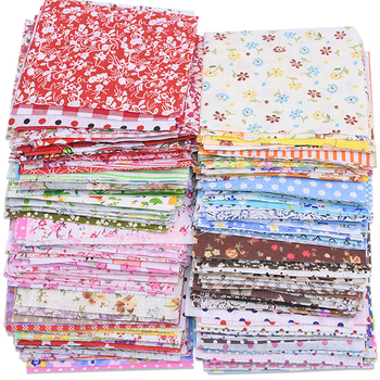 50pcs Assorted Floral Printed Cotton Cloth Sewing Quilting Fabric for Patchwork Needlework DIY Handmade Material 10X10cm Square