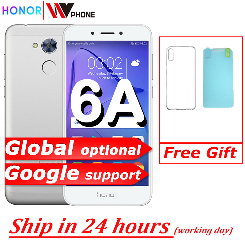 Honor 6a jogar 2gb 16gb original novo telefone móvel snapdragon 430 octa núcleo android 7.0 5.0 polegada impressão digital id