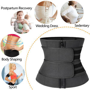 Image 4 - Waist Corset Trainer Sauna Sweat Sport Girdles Cintas Modeladora Women Lumbar Shaper Workout Trimmer Shapewear Slimming Belt