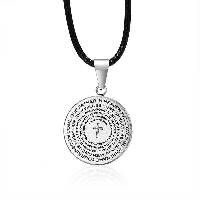 Notre père prière pendentif pièce de monnaie collier la prière du seigneur bijoux catholiques