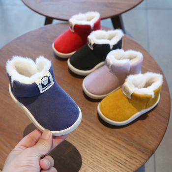 Winter Baby Girls Boys Boots Infant Toddler Snow Boots Warm Plush Outdoor Boots Soft Bottom Non-slip Kids Cotton Shoes baby girls boys boots 2020 winter infant toddler snow boots warm plush outdoor boots soft bottom non slip kids cotton shoes