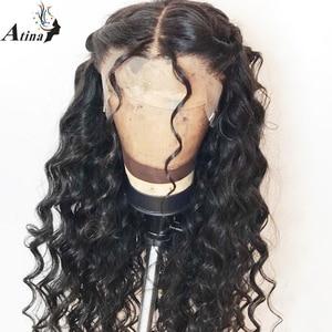Image 5 - 13x6 תחרה מול שיער טבעי פאות Loose עמוק גל Glueless מלא תחרה פאה 360 תחרה פרונטאלית פאה מראש קטף עם תינוק שיער 150% רמי