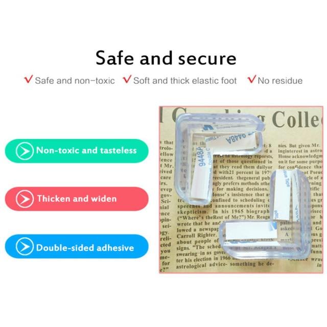 1/4/10pcs Baby Safety Silicone Protector Table Corner Edge Protection Cover Children Anticollision Edge Child Corner Guards 6