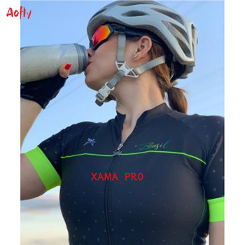 XAMA-traje de triatlón profesional para Mujer, ropa de Ciclismo corta, conjuntos de...