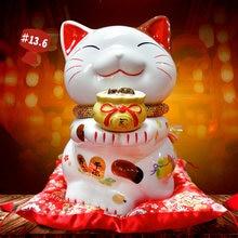 Керамическая кошечка для счастливого кота xiaofu украшение дома