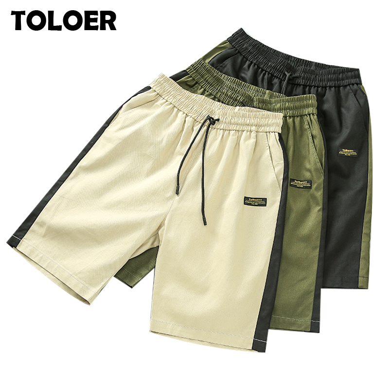 2020 Summer Men''s Shorts Casual Loose Cropped Trousers Sports Shorts Loose Knit Straight Casual Pants Cotton Short Pants New 4XL