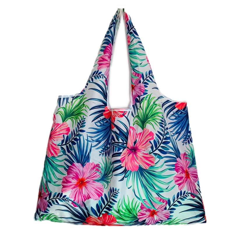 Tote Green Shopping Bag Lady Foldable Oxford Cloth Reusable Fruit Grocery Pouch Recycle Organization Bags