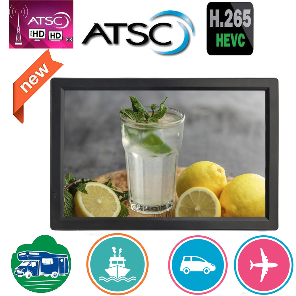 LEADSTAR 14 inch HD Portable Mini TV Built in ATSC-T Digital Tuner Atsc decoder Supports H265/Hevc/Dolby AC3 image
