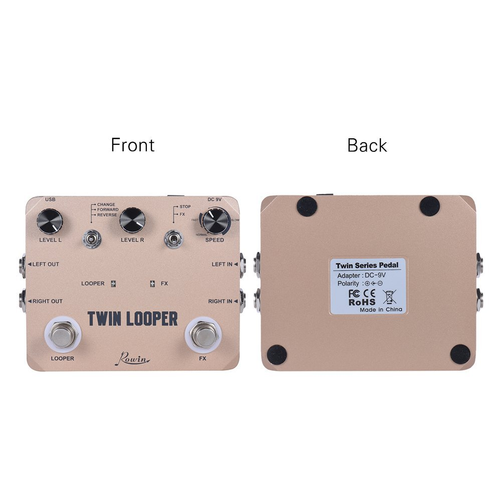 Купить с кэшбэком Rowin LTL-02 Twin Looper Pedal Upgrades Looper Pedals For Electric Guitar 10 Min Looping Unlimited Undo/Redo Function 11 Types P