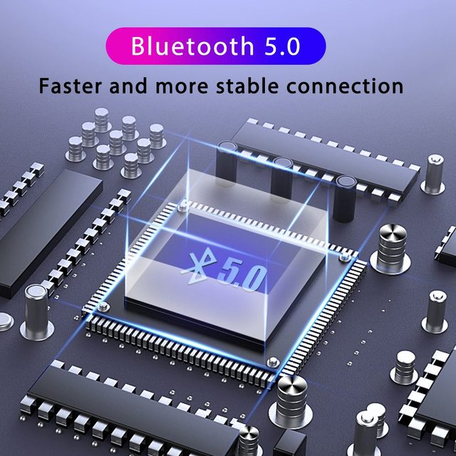 Wireless Earphone Bluetooth V5.0 TWS LED Display With 2000mAh Power Bank Waterproof Earbuds With Mic Headphone Wireless Headset
