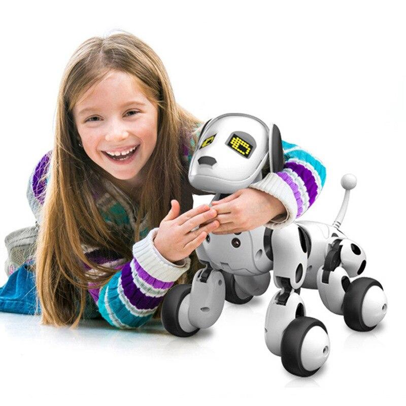 Robot de juguete para niños, perro inteligente, Control remoto, juguetes multifuncionales para niñas y niños, juguetes de Robot 1 4 - 3