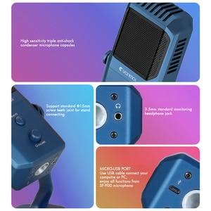 Image 4 - Профессиональный USB микрофон для студийной записи, конденсаторный микрофон с четырьмя направлениями для игрового вещания, микрофон для караоке