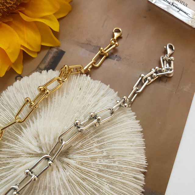925 Sterling Silver Lock Chain Bracelet for Women Men Vintage Handmade Hasp Adjustable Bracelet Party Jewelry Gift S-B451 3