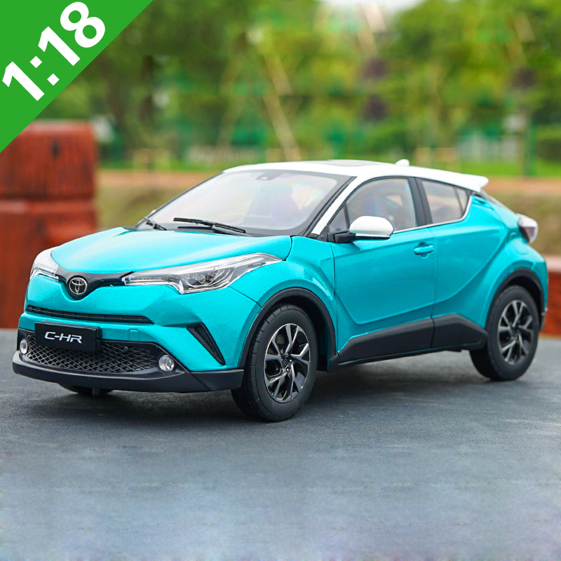 1:18 High Meticulous TOYOTA C-HR CHR Alloy Model Car Static Metal Model Vehicles With Original Box