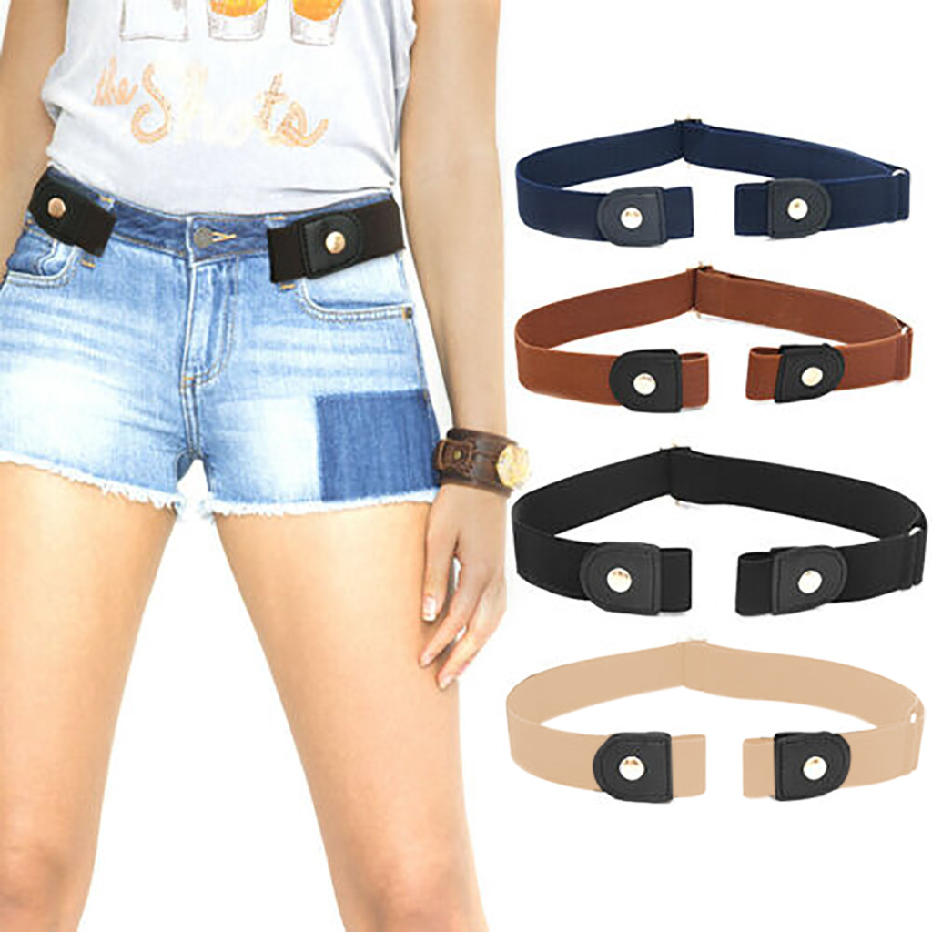 Belts For Women Buckle-free Elastic Women Men Invisible Belt For Jeans No Bulge Hassle Wholesale Free Ship ремень женский Z5