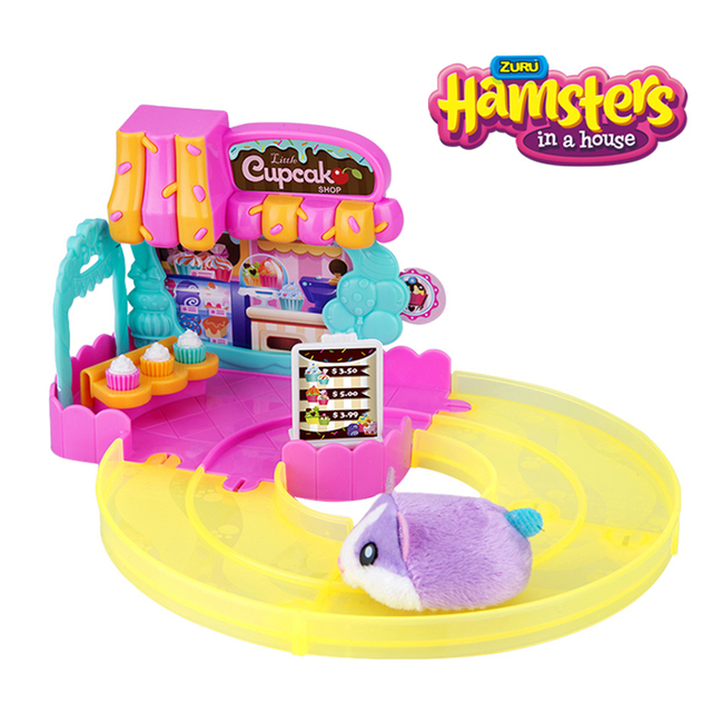 Hamsters in the Series 2 Mini cake shop Bakery Food Frenzy Hamster with Accessories Toys Birthday Surprise Kids Gift 1