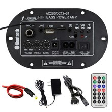 8-inch Three-use 3028BTMIC Digital Amplifier With Microphone Built-in Bluetooth Microphone Mono Power Amplifier Board (OPP Bag)