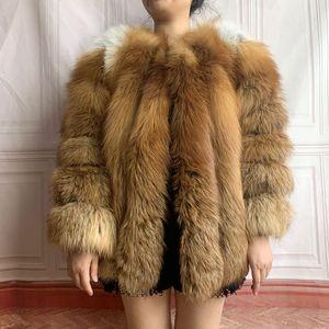 2020 Natural fox fur coat vest silver fox red fox fur coat fur jacket real fur real fur gilet natural fur women's winter jacket