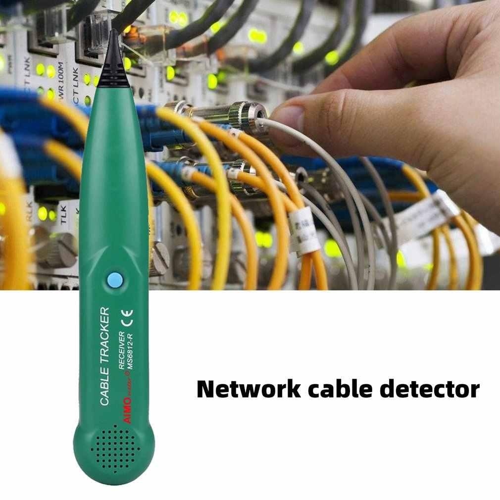 Hattı dedektörü AIMOmeter MS6812 LAN ağ kablosu test cihazı telefon tel Tracker Tracer ile AVD06 gerilim dedektörü