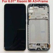 """Оригинальный тест отпечатков пальцев для 6,01 """"Xiaomi Mi A3 1906F9 AMOLED ЖК экран + сенсорная панель дигитайзер Рамка для Xiaomi Mi CC9e"""