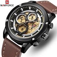 2019 NAVIFORCE новые модные мужские s часы лучший бренд класса люкс Большой циферблат военные кварцевые часы водонепроницаемые спортивные хроног