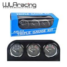 WLR RACING-52 мм Электрический тройной комплект(Вольтметр+ датчик температуры масла+ Датчик давления масла) датчик температуры или датчик температуры воды