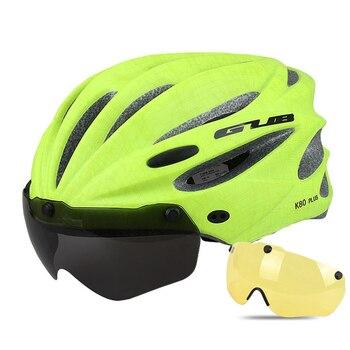 GUB K80 Cycling Helmet with Visor Magnetic Goggles Integrally-molded 58-62cm for Men Women MTB Road Bicycle  Bike Helmet 21