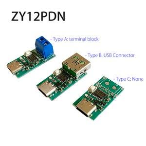 "Image 1 - ZY12PDN פ""ד DC דמה זיהוי סוג C PD2.0 3.0 מהיר טעינה הדק מודול קלפי HID תכנות מודול 5A 100W"