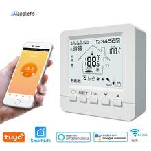 Tuya inteligentny termostat WiFi regulator temperatury woda elektryczna ciepła podłoga ogrzewanie woda kocioł gazowy współpracuje z Echo Google Home tanie tanio AIapplets Rohs CN (pochodzenie) 95-240VAC 50~60HZ HY02B05-WiFi Resistance 5A Inductive 3A Resistance 3A Inductive 1A NTC3950 10K