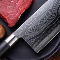 Zassuu, высокое качество, 8 дюймов, универсальный нож, лазерный, дамасская сталь, кухонные ножи, острый нож, нож, подарок