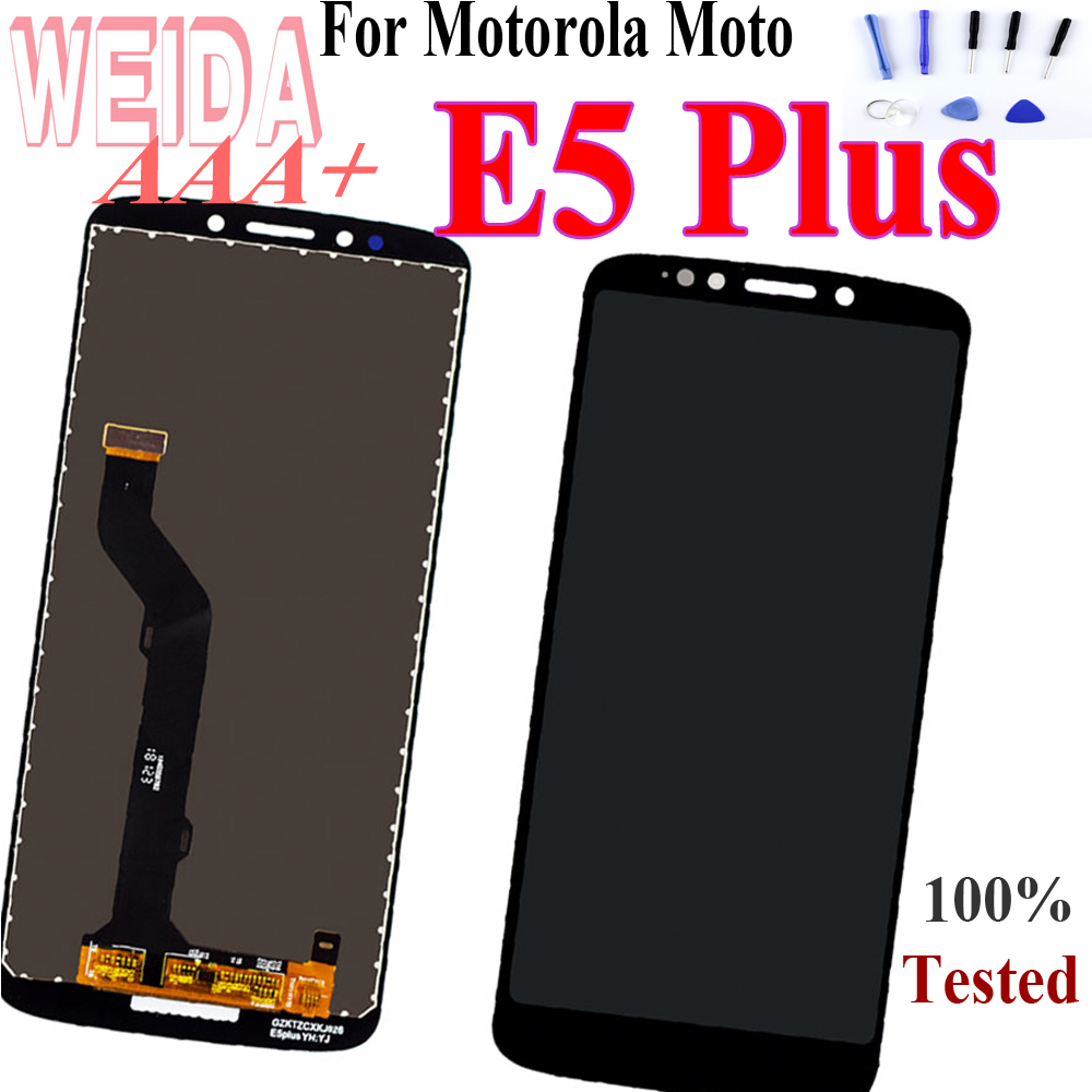 "WEIDA 6.0"" For Motorola Moto E5 Plus XT1924 XT1924-1 XT1924-2 Lcd Screen Display Touch Glass Digitizer Assembly for Moto E5 Plus"