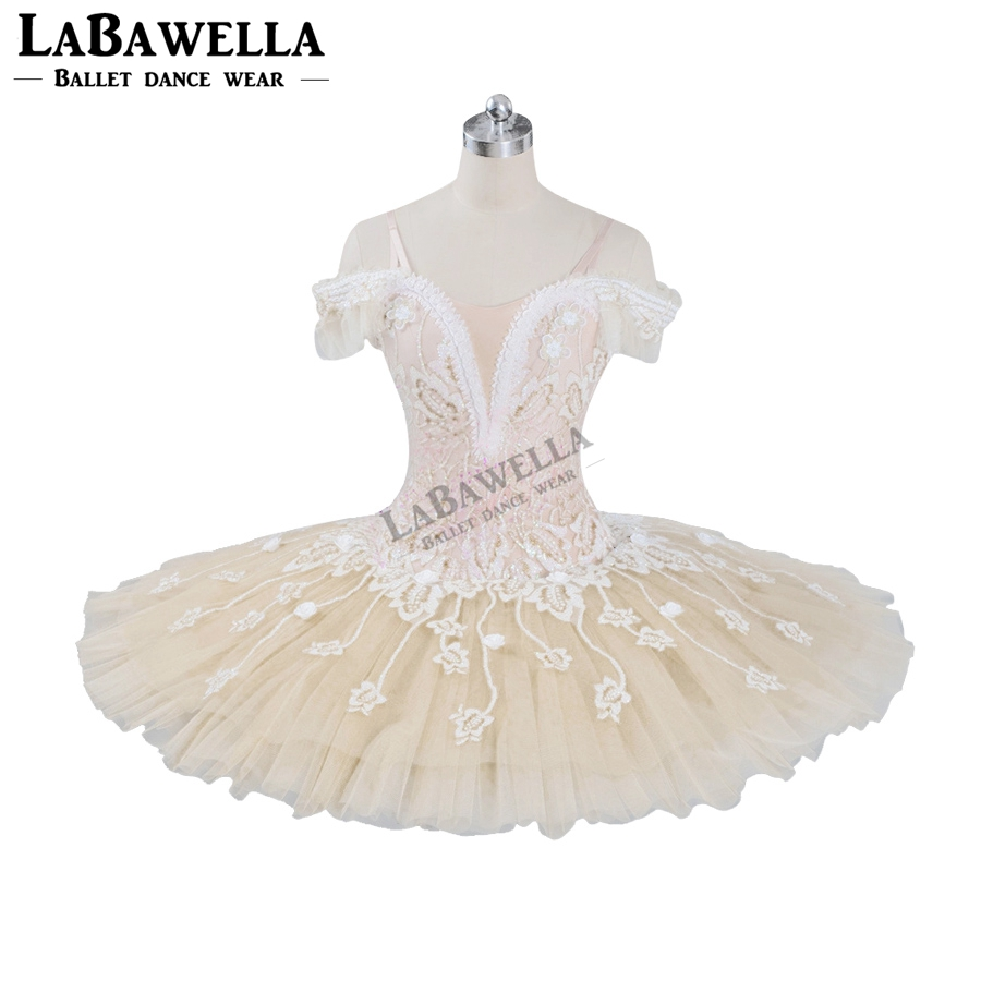 Ballet Beige Fairy Harlequinade Variation Professional Tutu Dress Kids Performance Competiton Tutu Costume BT9073Ballet   -