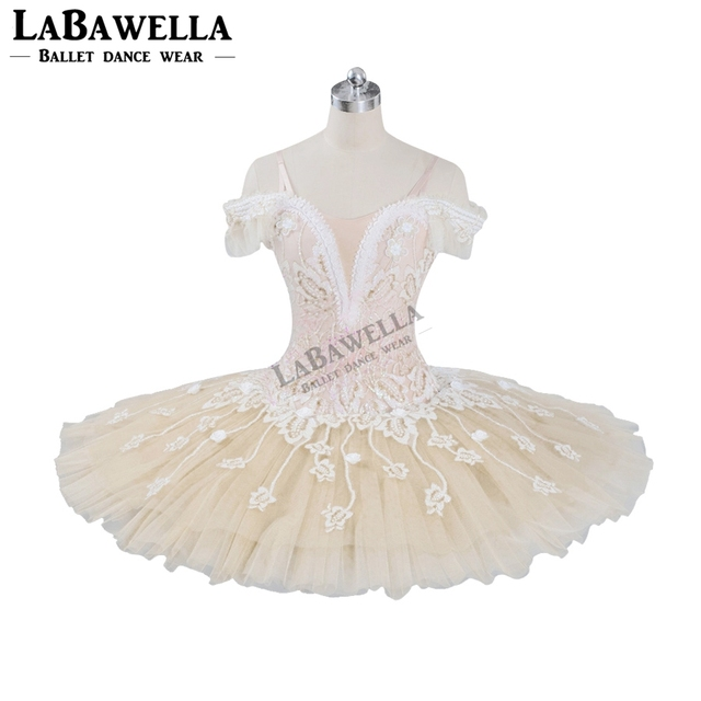 Ballet Beige Fairy Harlequinade Variation Professional Tutu Dress Kids Performance Competiton Tutu Costume BT9073
