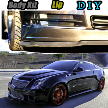 Car Bumper Lip Front Spoiler Skirt Deflector For Cadillac CTS CTS-V 2002~2019 Tune Car Modified Body Kit VIP Hella Flush Lips image