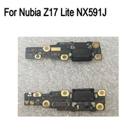 For Nubia Z17 Lite NX591J Used tested Good Charge Port Connector USB Charging Dock Board Flex Cable For Nubia Z17Lite USB Charge