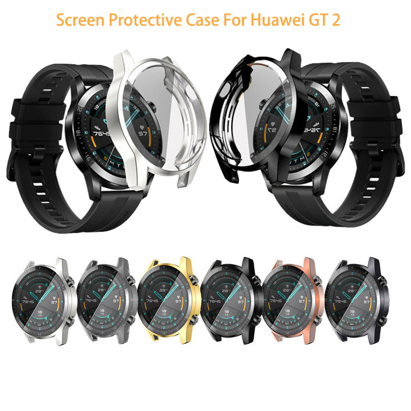 Protective Case For Huawei Watch GT 2 46mm Soft Tpu Full Screen Protection Case For Huawei Gt  Watch Protector Cover Accessories