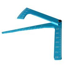 Blau Einstellbare Herrscher Anpassung Höhe Und Felge Sturz Multi-funktionale Multi Winkel Messen Vorlage Werkzeug RC Zubehör