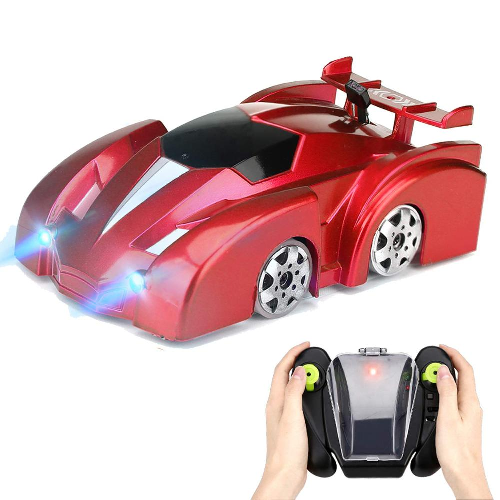 Dropshipping Mini Wall Climbing Car Toy Ceiling Climb Racer RC Cars Across The Wall Remote Control Antigravity Machine Stunt Car