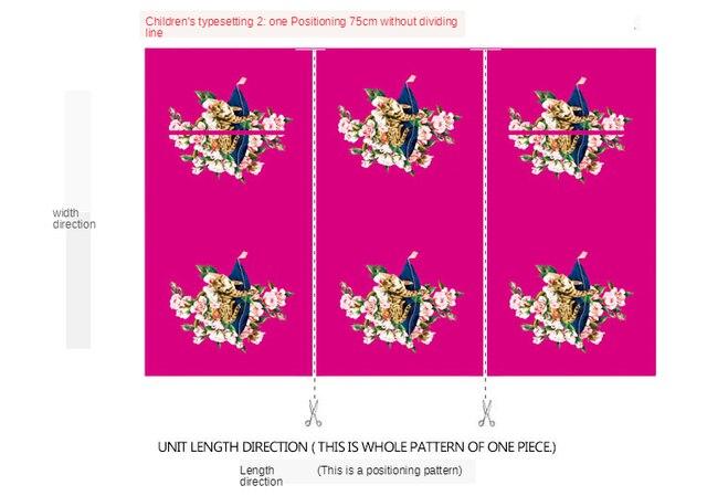 Tissu Jacquard automne et hiver rose chat rouge | Vêtements en tissu à impression numérique pour parent-enfant, version pour enfants et adultes