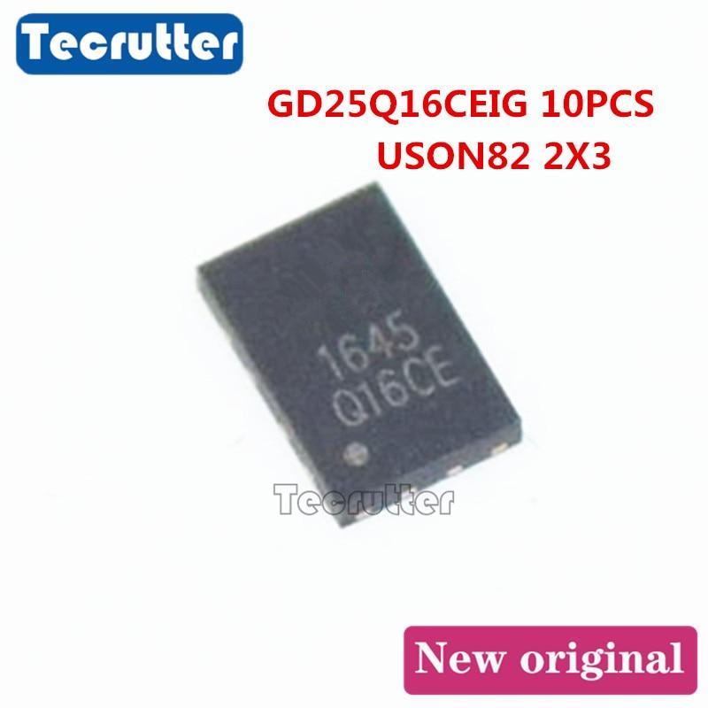 10PCS GD25Q16CEIG GD25Q16 25Q16 USON8 2x3 2MB 16Mbit