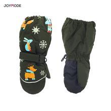 1 пара, новые зимние Детские утепленные лыжные перчатки с рисунком оленя и кролика детские ветрозащитные водонепроницаемые Нескользящие варежки с длинными рукавами