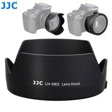 Jjc flor forma baioneta câmera reversível lente capa para canon ef 50mm f/1.8 stm lente substitui canon ES 68 lente sombra preto