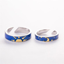 New Beautiful Thinking About The Night Couple 925 Sterling S