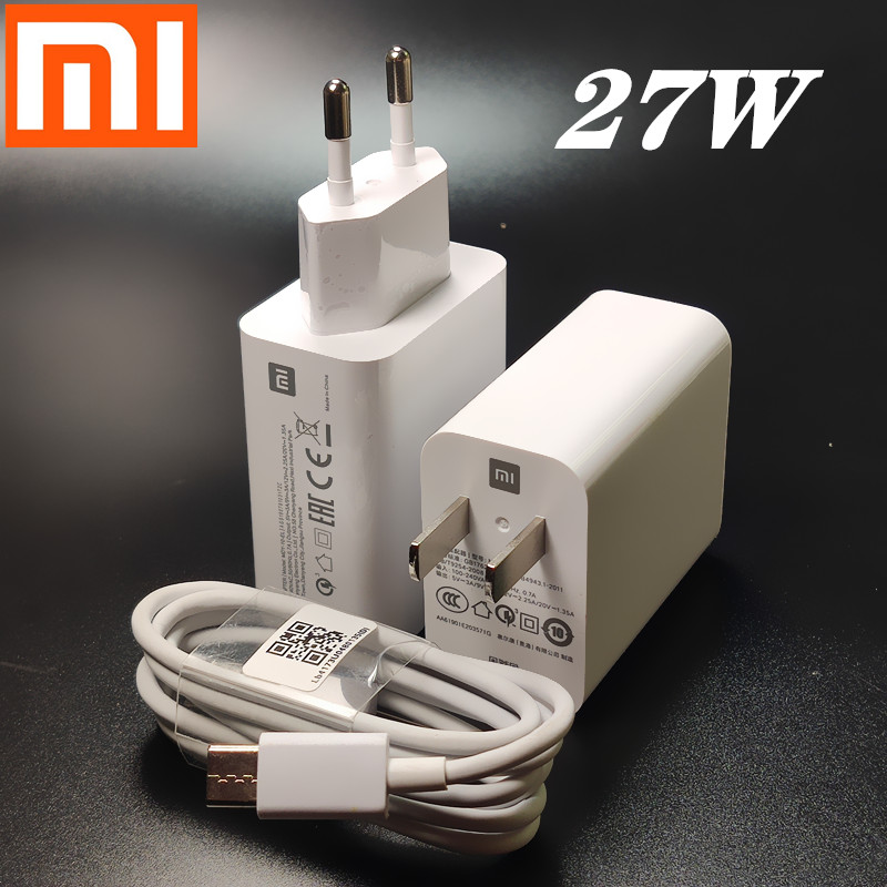 Xiaomi Fast <font><b>Charger</b></font> <font><b>27W</b></font> Original EU 9V 3A/12V Turbo Charge wall power adapter For <font><b>mi</b></font> 9 se 9t CC9 redmi note 7 8 pro K20 image