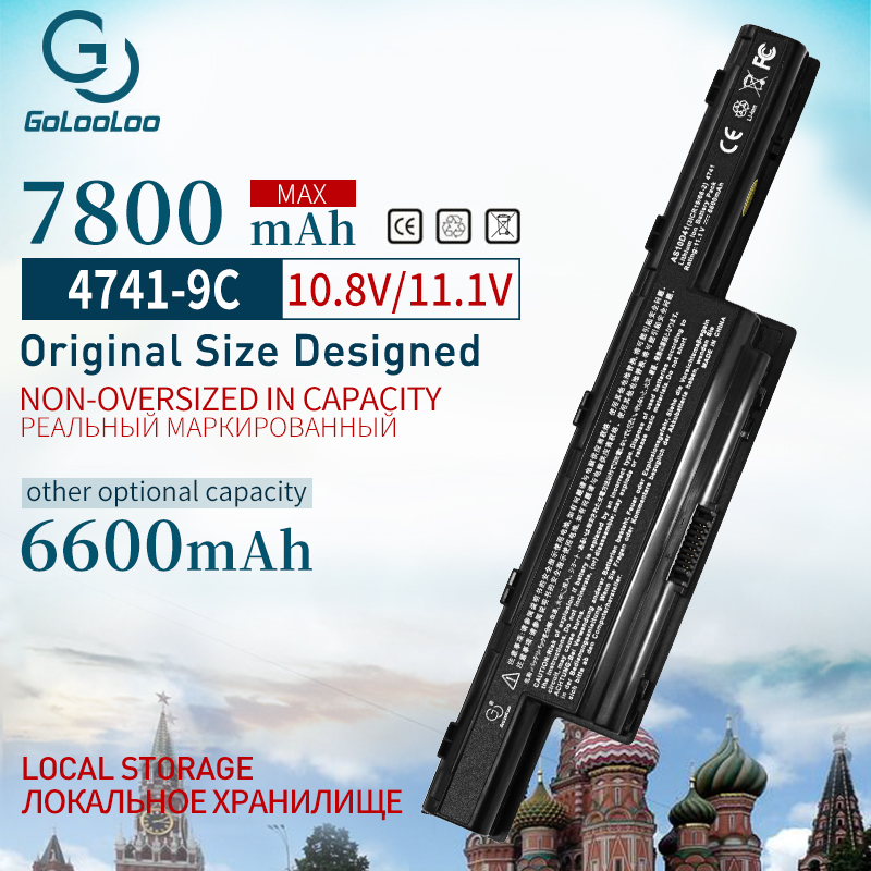 Golooloo 6600mAh Laptop Battery For Acer Aspire V3 5750G 4252 4253 4339 AS10D51 AS10D61 AS10D31 4552 4552G 4560 4750G 5750 5560