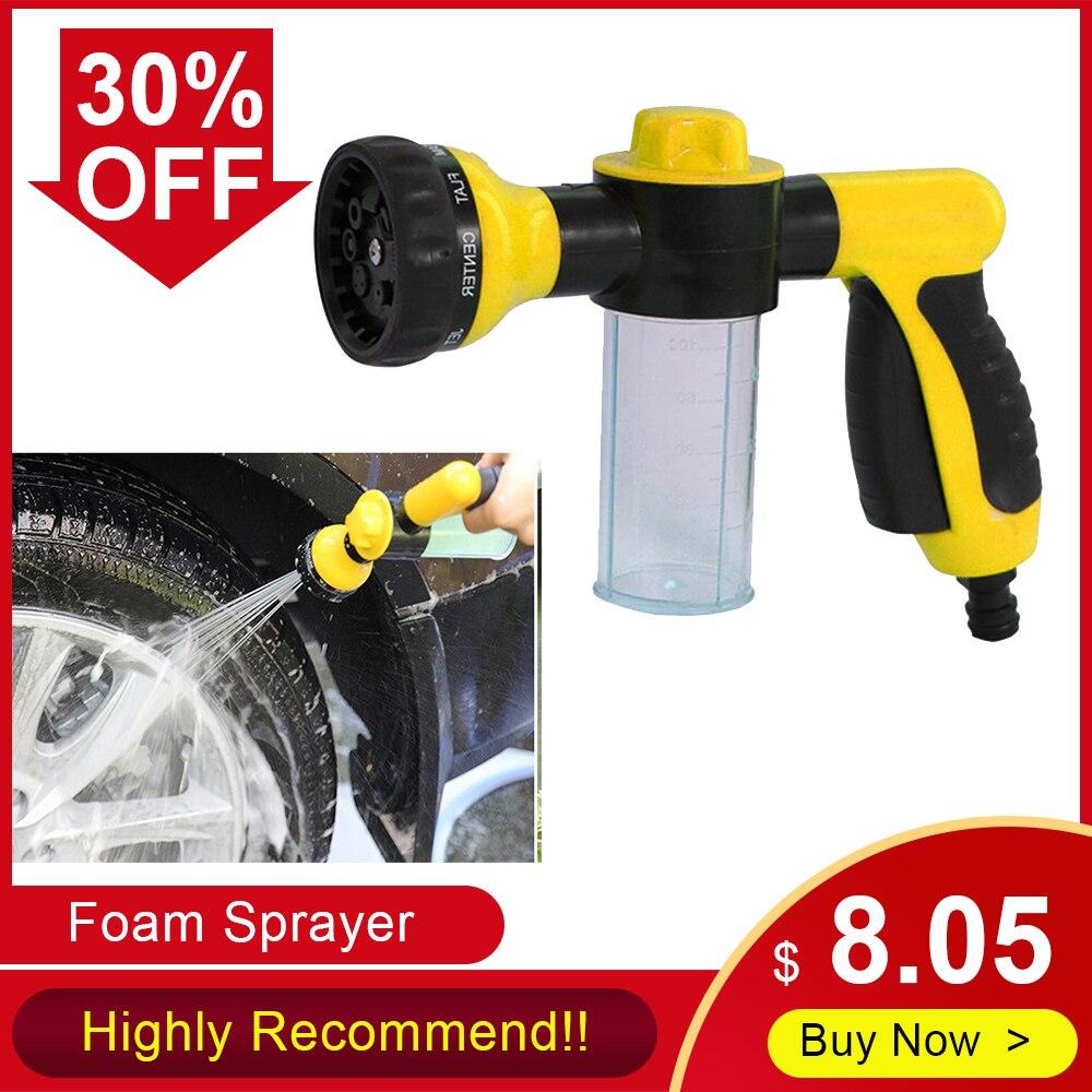 Portable Car Washer Foam Sprayer Garden Water Hose Foam Nozzle Soap Dispenser Gun Auto Foam Sprayer Cleaning Tool Car Washing