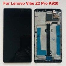 6.0 بوصة الأصلي اختبار AAA لينوفو فيبي Z2 برو K920 شاشة إل سي دي باللمس لوحة شاشة محول الأرقام الجمعية مع الإطار أدوات مجانية