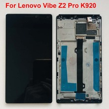 6.0inch Original Tested AAA For Lenovo Vibe Z2 Pro K920 LCD Display Touch Panel Screen Digitizer Assembly With Frame Free Tools
