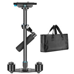 Neewer Carbon Fiber 24 inches/60 centimeters Handheld Stabilizer with 1/4 3/8 inch Screw Quick Shoe Plate