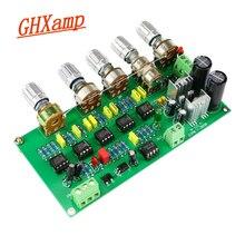 GHXAMP caisson de basses préamplificateur carte filtrante TL072 ton passe bas AWCS égalisation dynamique 5.1 sous amplificateur sortie simple